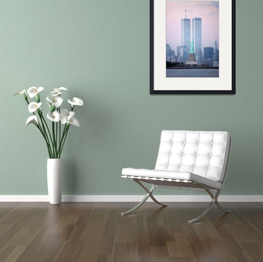 """""""World Trade Center & Statue of Liberty&quot  by christopherboswell"""