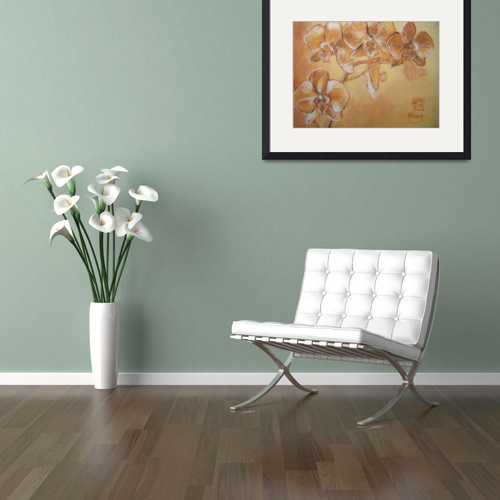 """""""White Orchids&quot  (2008) by maryanncleary"""