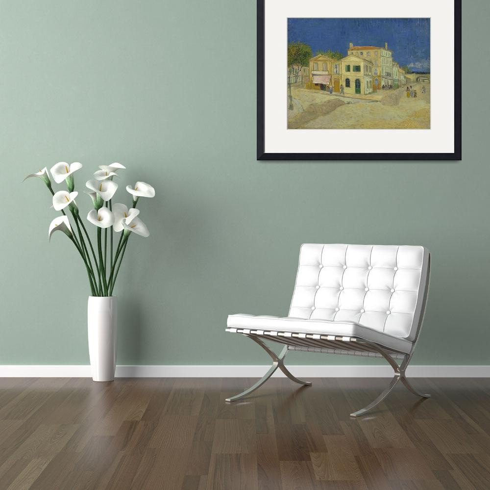 """""""The Yellow House (The Street) Vincent Van Gogh&quot  by VintageArtPosters"""