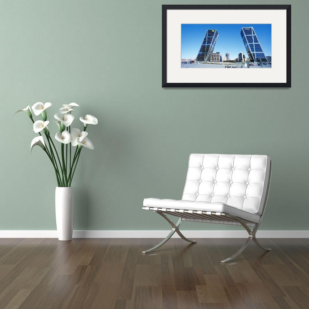 """""""Low angle view of skyscrapers in a city&quot  by Panoramic_Images"""