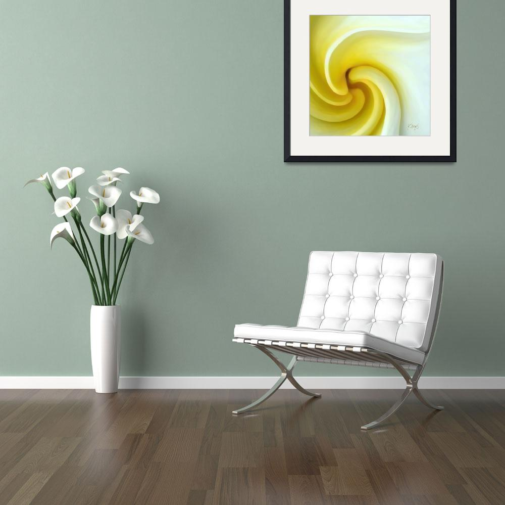 """Abstract floral-Daffodil&quot  (2008) by artbykeys"