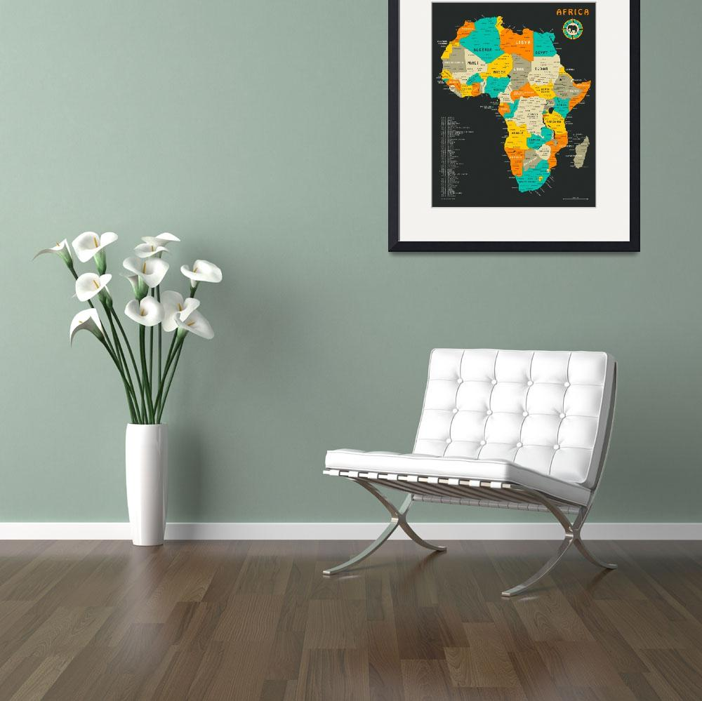 """""""Africa Map""""  by JazzberryBlue"""
