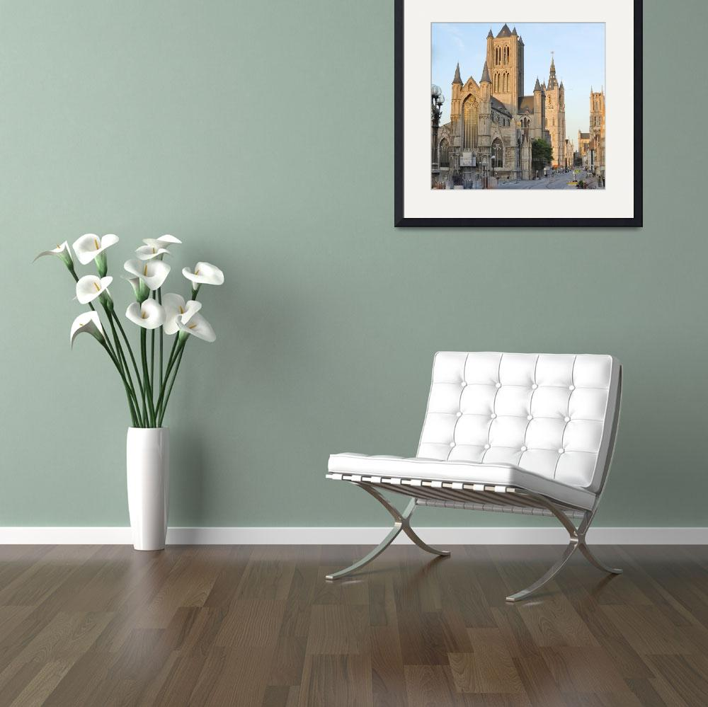 """""""Three Towers of Ghent&quot  (2011) by marilyndunlap"""