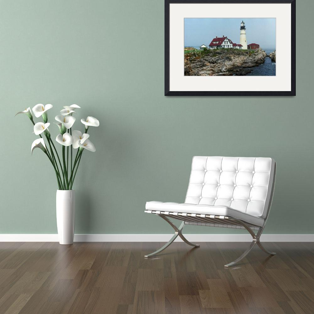 """""""Lighthouse - Portland Head, Maine&quot  (2004) by Ffooter"""