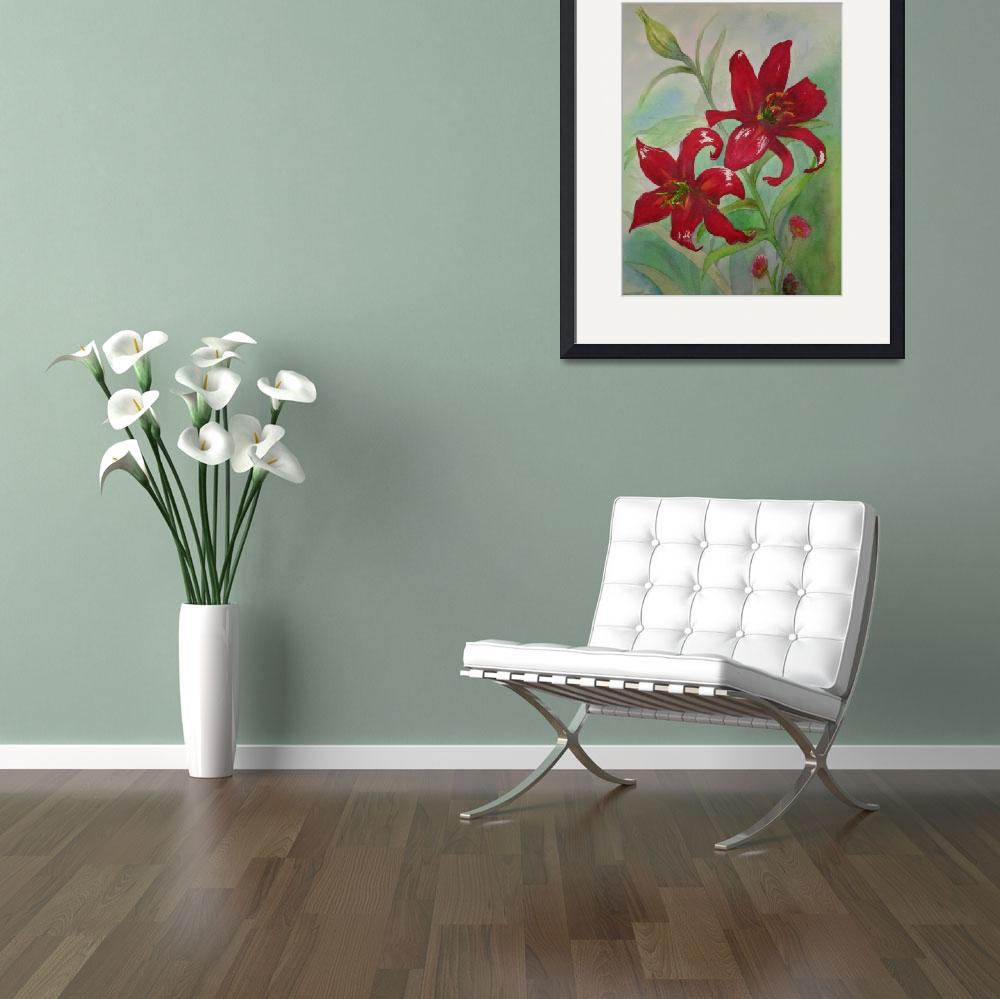 """""""Brilliant Red Flowers&quot  (2006) by kerralindsey"""