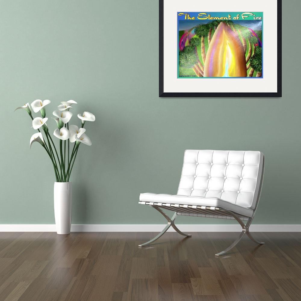 """""""The Element of Fire Poster&quot  (2005) by stephenthedigitalartist"""
