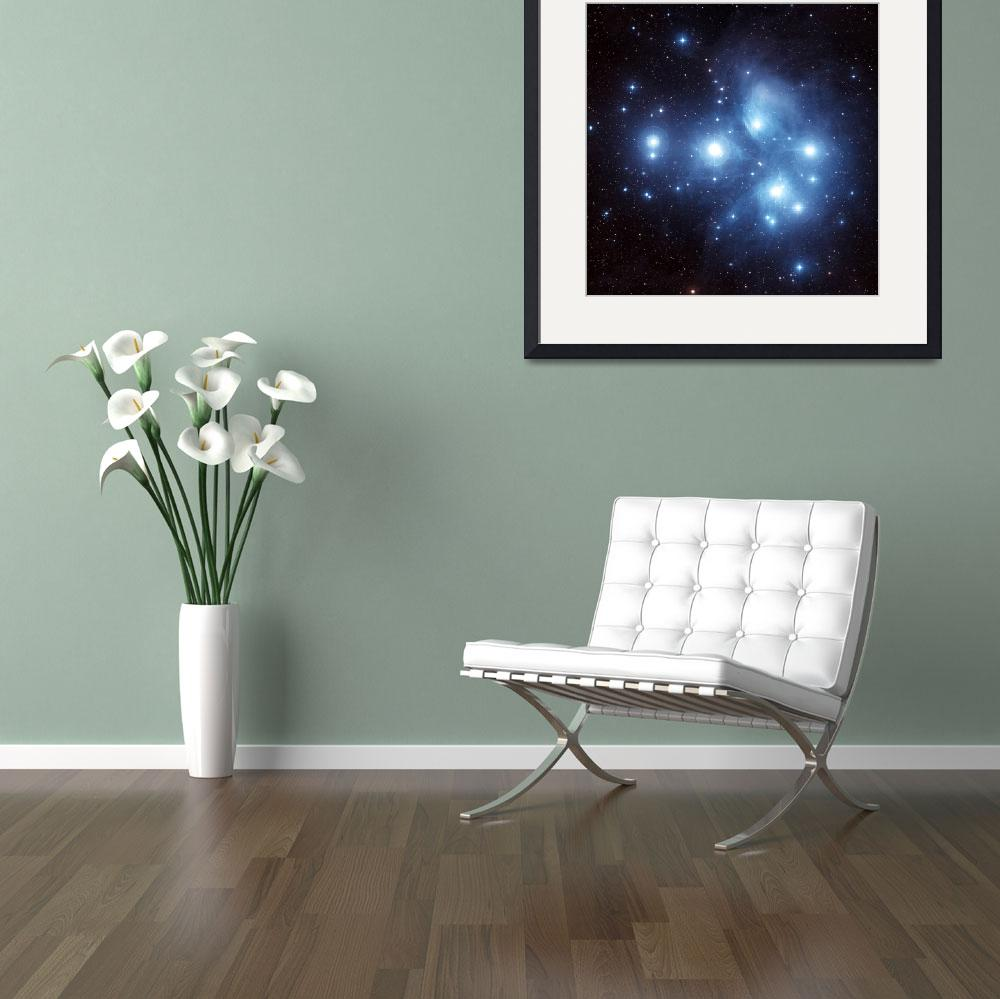 """The Pleiades Star Cluster&quot  by stocktrekimages"