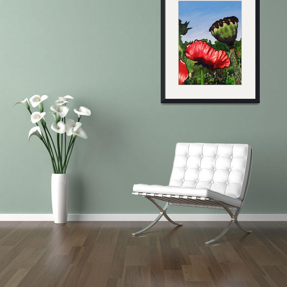 """""""Poppies and Pod""""  (2008) by harryboardman"""
