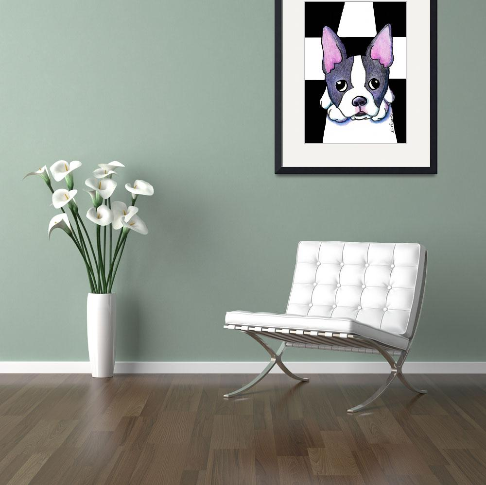 """Boston Terrier&quot  (2005) by KiniArt"