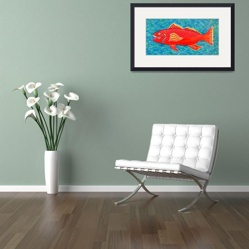 """""""RED SEA TROUT&quot  (2014) by mrmizener"""