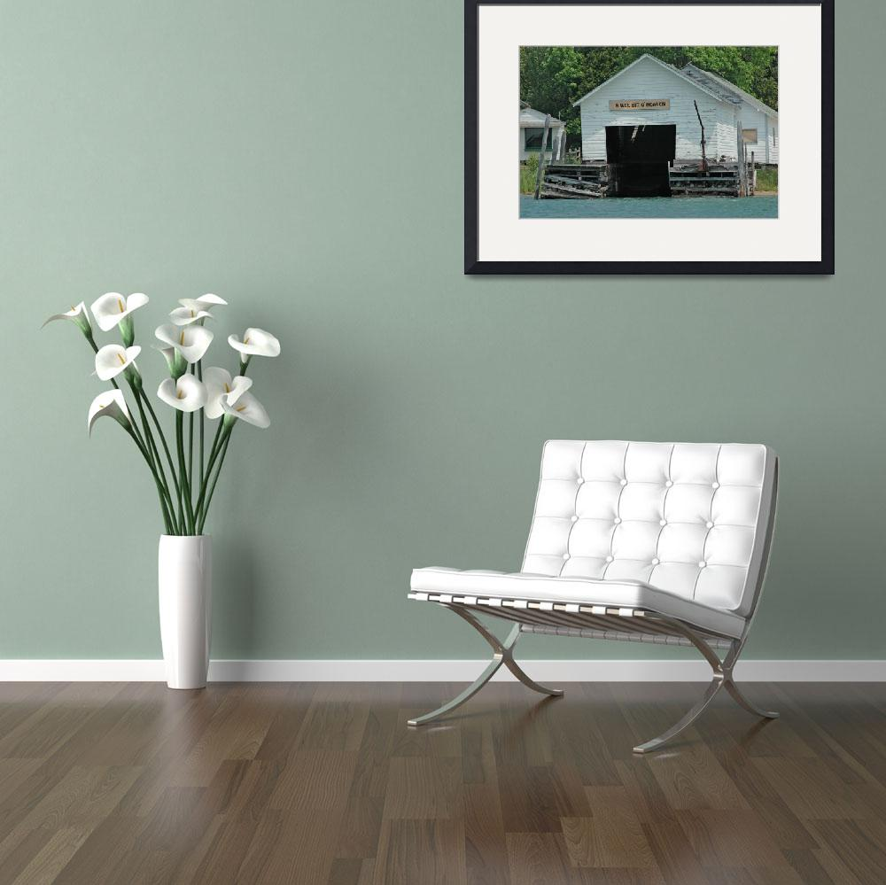 """""""Rustic Boat House""""  (2006) by photoartistry"""