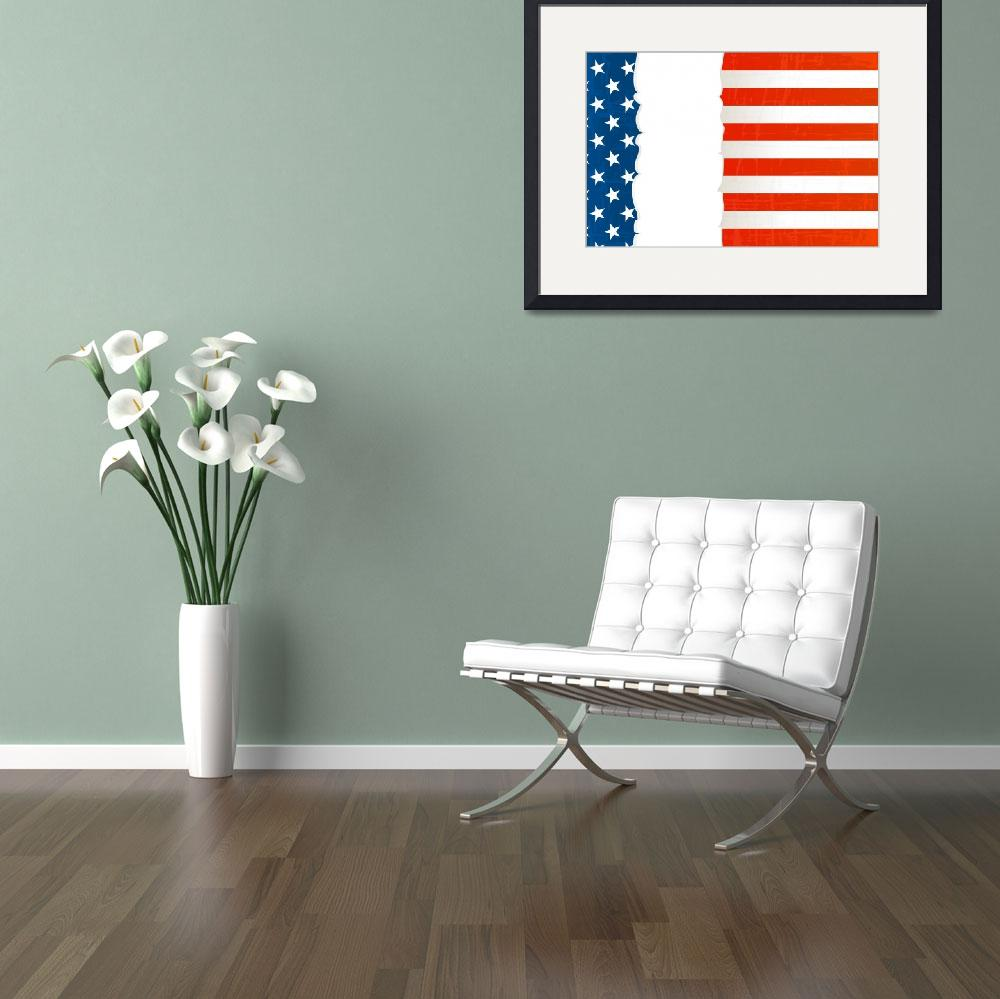 """""""Grunge USA flag background&quot  by lirch"""