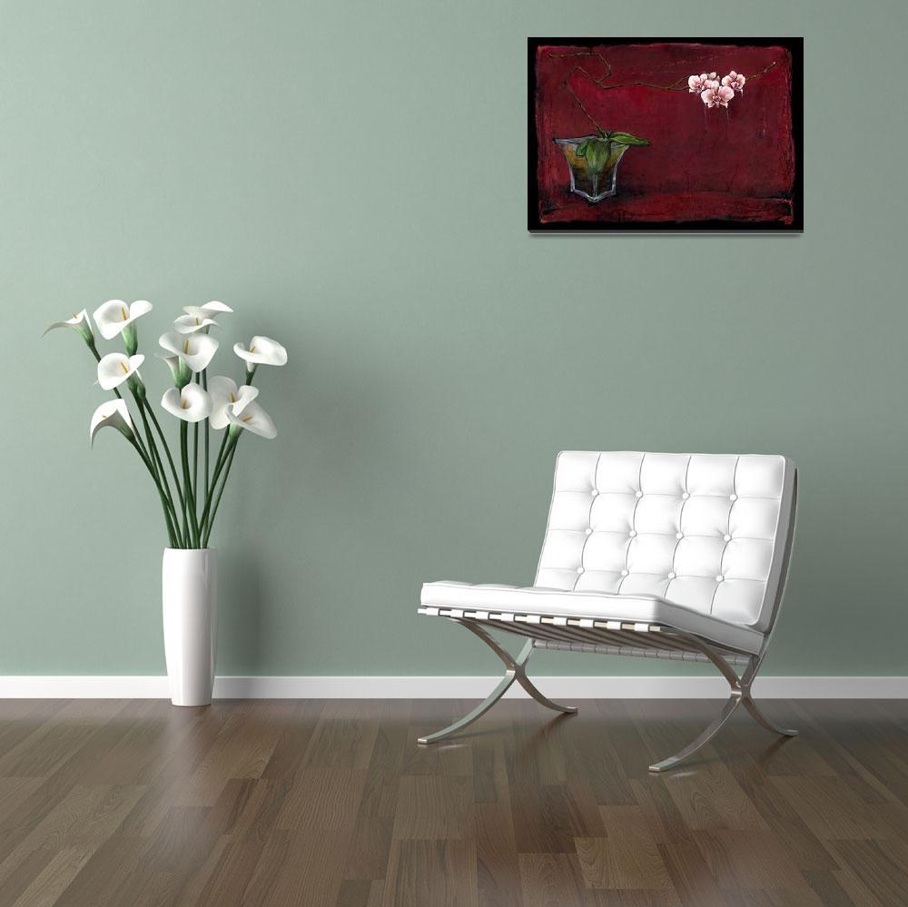 """Striped Phalaenopsis - Ikebana&quot  by OpieSnowPrints"
