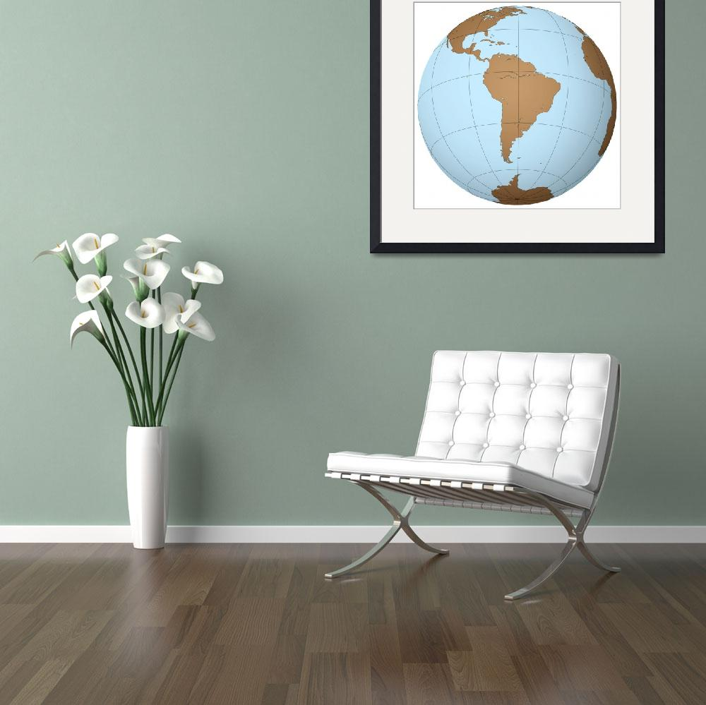 """""""south america on earth&quot  by robertosch"""