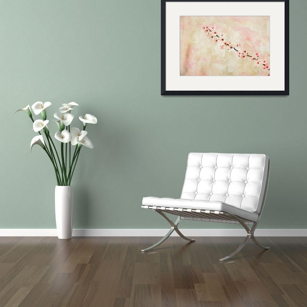 """""""Cherry Blossom Flowers&quot  (2012) by jow"""