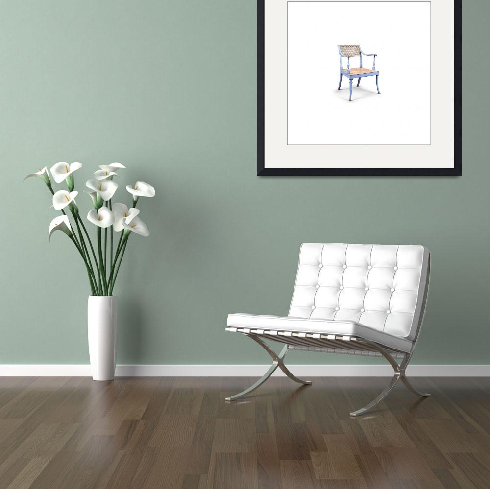 """""""TURQUOISE REGENCY ARMCHAIR, 18th century Made circ""""  by motionage"""