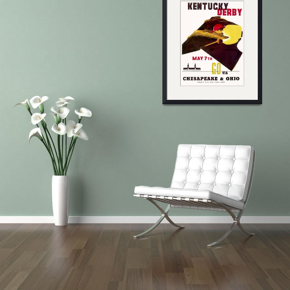 """Kentucky Derby Vintage Horse Racing Poster""  by FineArtClassics"