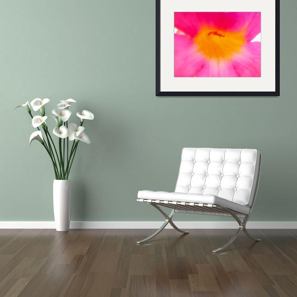 """""""Heart of Pink Trumpet Flower-2&quot  (2014) by AmbientCreations"""