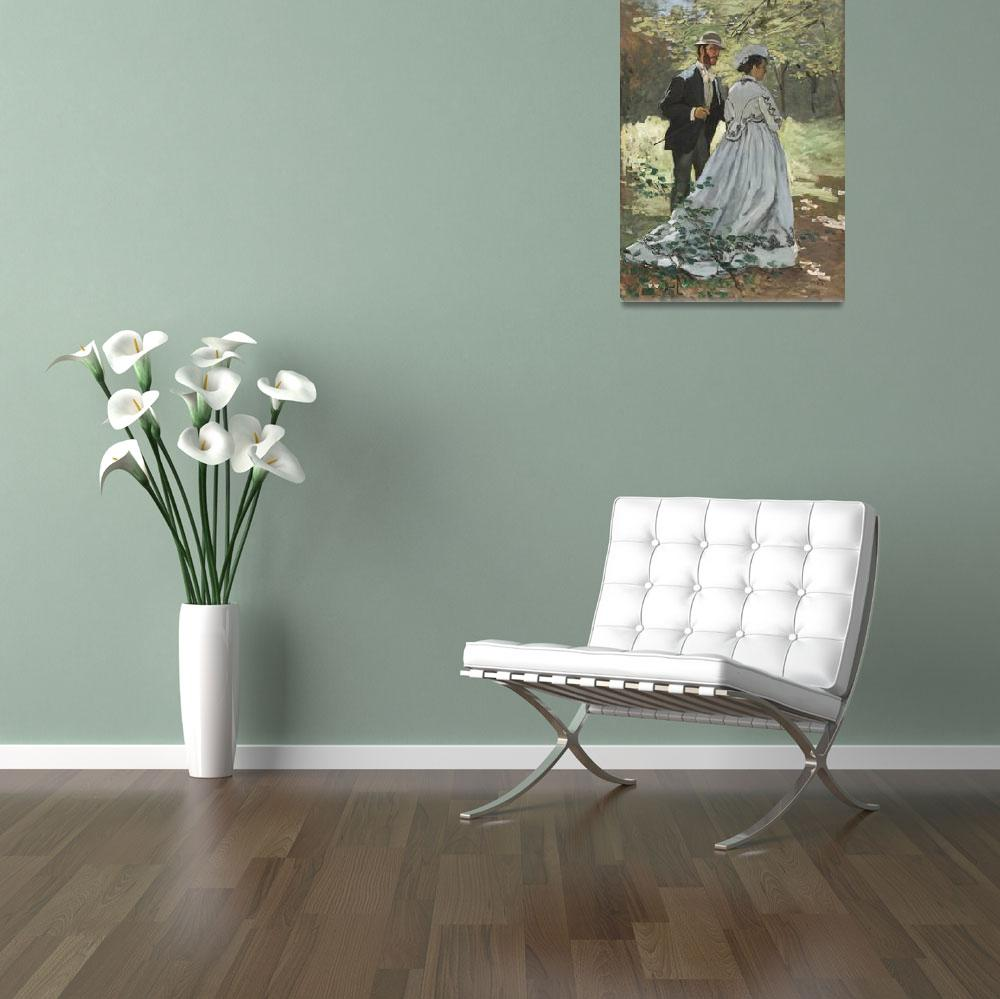 """""""Bazille and Camille by Claude Monet&quot  by FineArtClassics"""