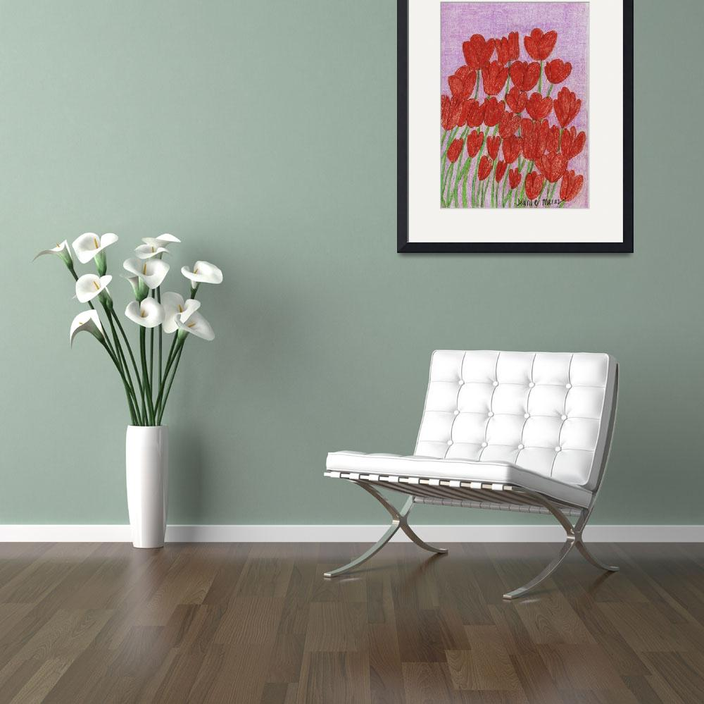 """""""Red Flowers&quot  (2010) by jmeraz"""