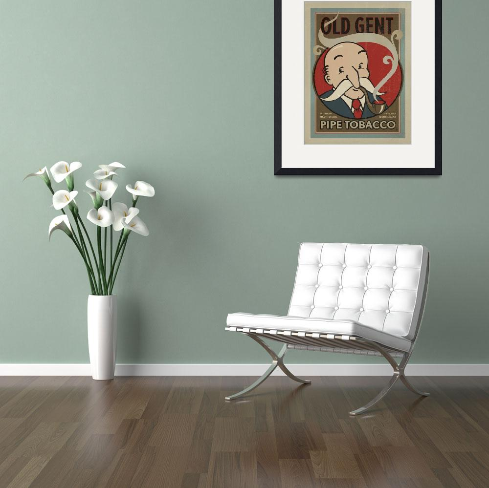 """Old Gent Tobacco - Retro Poster&quot  by artlicensing"