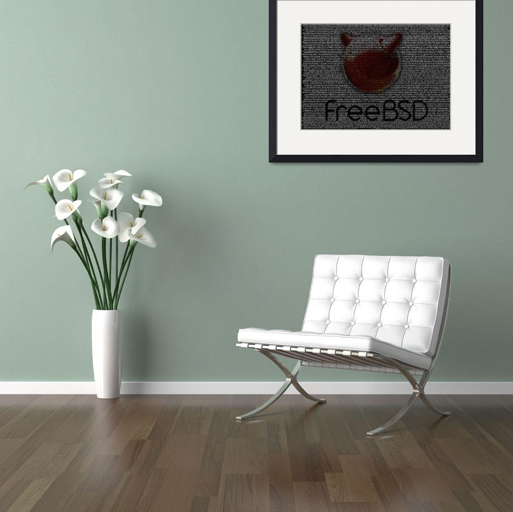 """FreeBSD Poster from Source Code""  (2010) by 0xfe"