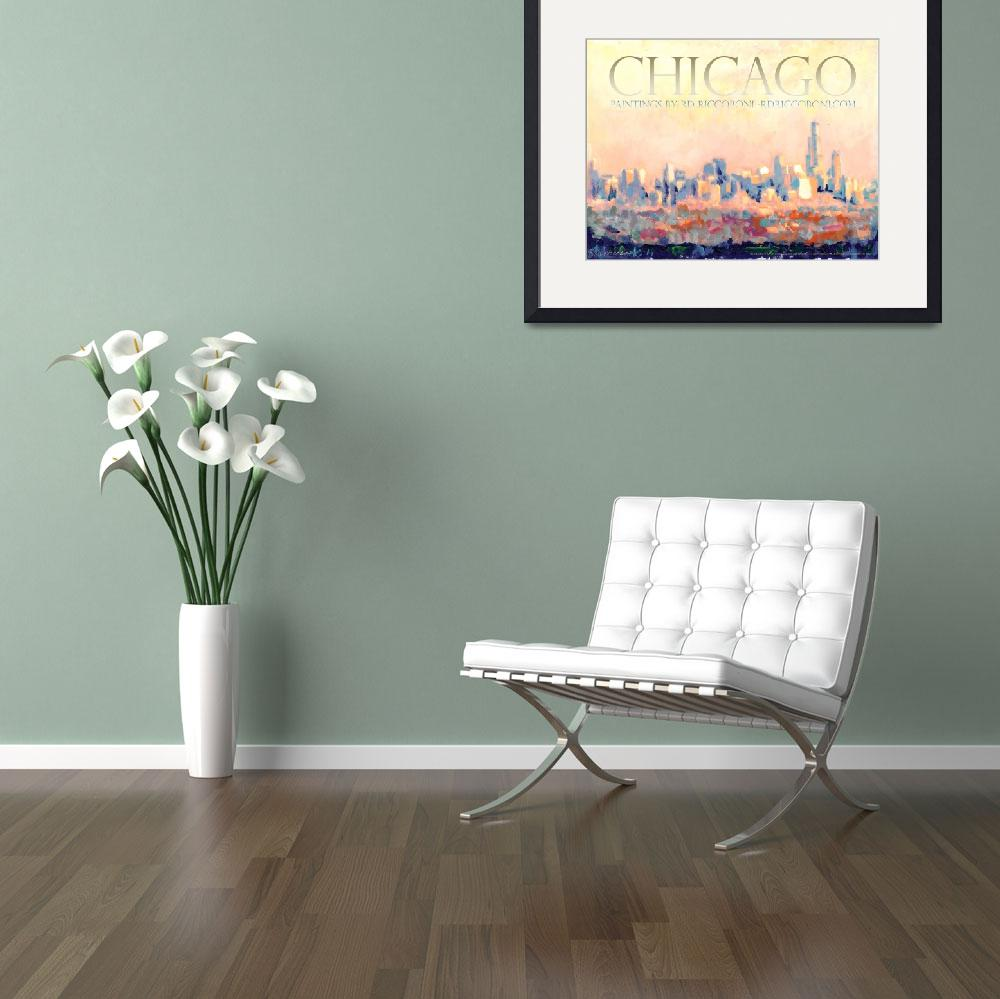 """Chicago Poster by RD Riccoboni&quot  by RDRiccoboni"
