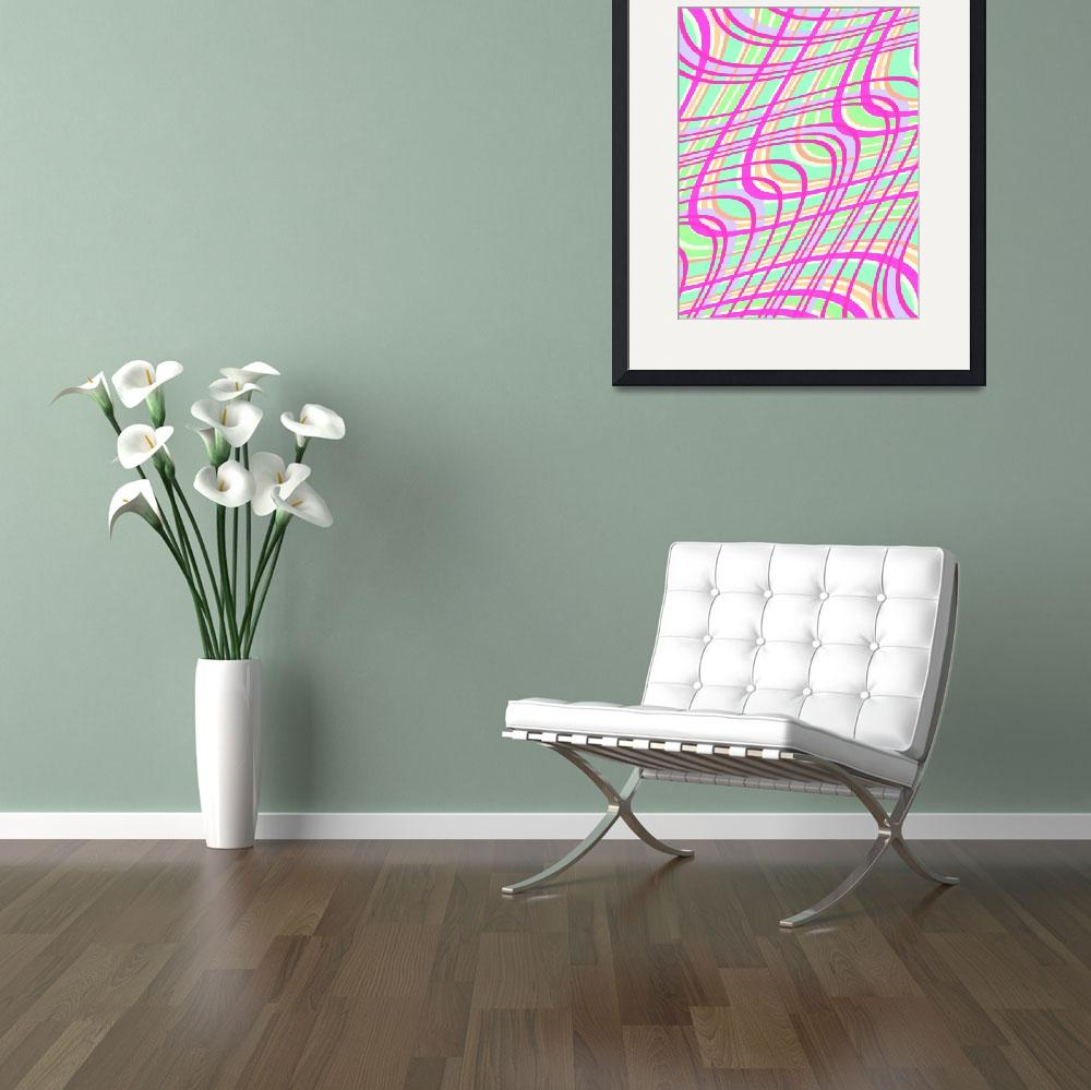 """""""Swirly Check (digital) by Louisa Knight&quot  by fineartmasters"""