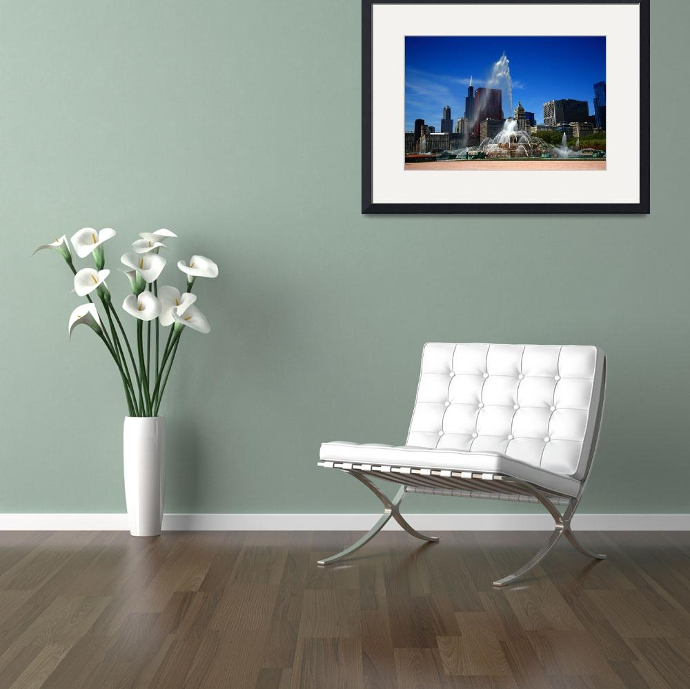 """""""Chicago Skyline and Buckingham Fountain 2010""""  (2010) by Ffooter"""