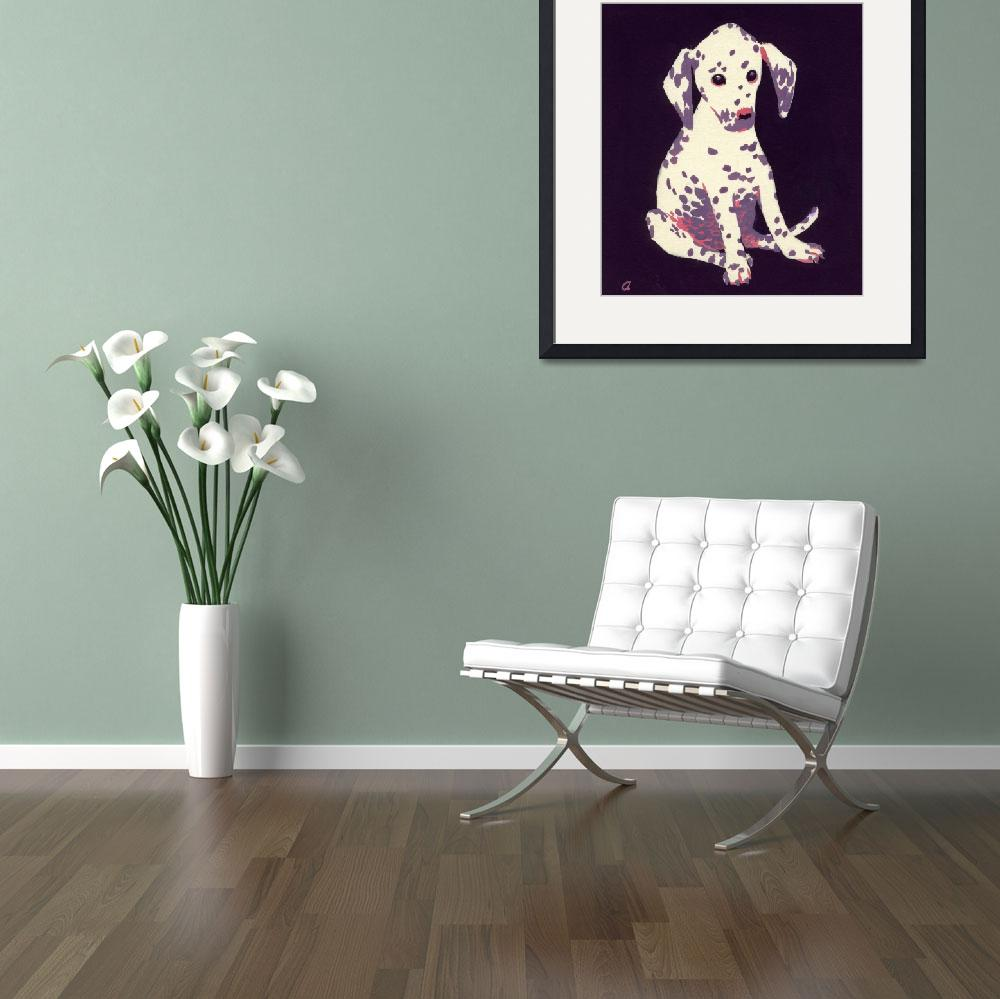 """""""Dalmation Puppy, 1950s (gouache on paper)&quot  by fineartmasters"""