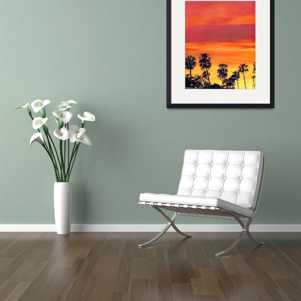 """""""Big Red Sunset in San Diego&quot  (2009) by RDRiccoboni"""