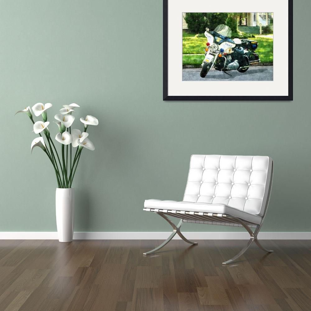 """""""Police Motorcycle&quot  by susansartgallery"""