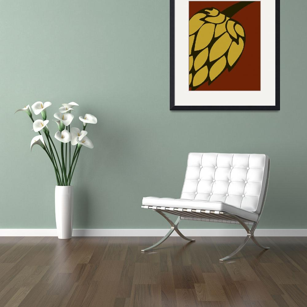 """""""Green Passion Hops-01&quot  by BreweryBoutique"""