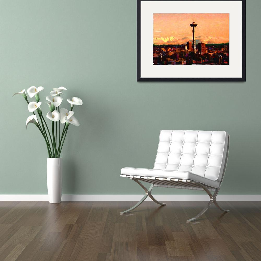 """""""Seattle in the Clouds""""  (2010) by CarlaG"""
