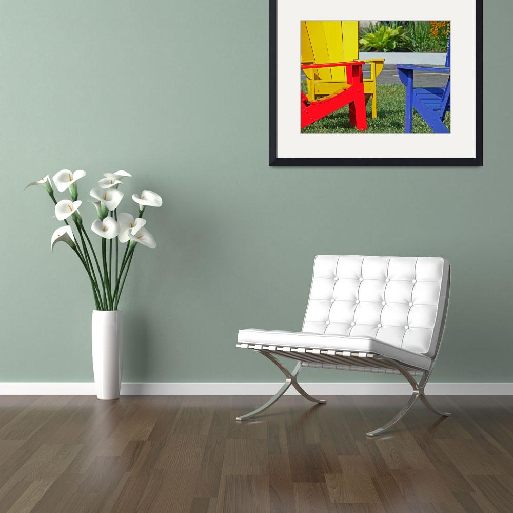 """""""Red, Yellow, & Blue Chairs @ Park Place, 19 June 2""""  by photographybyROEVER"""