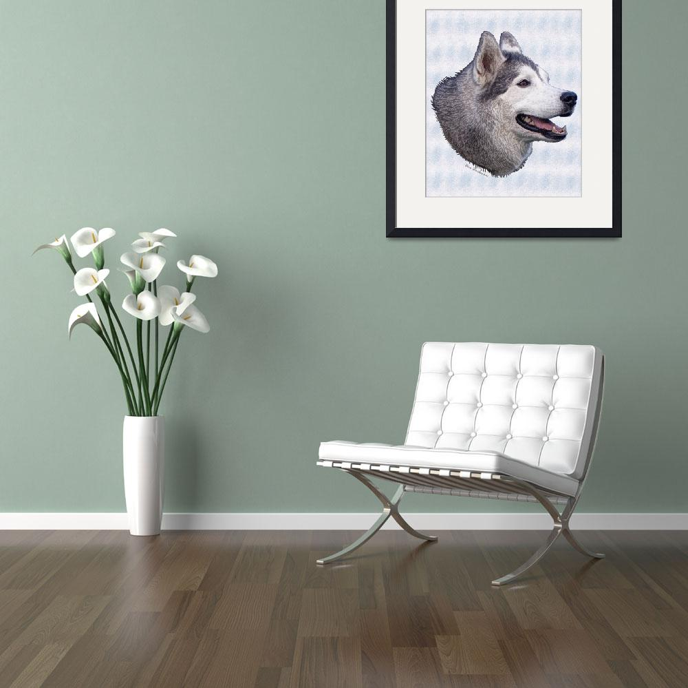 """""""Siberian Husky&quot  (2008) by diane"""