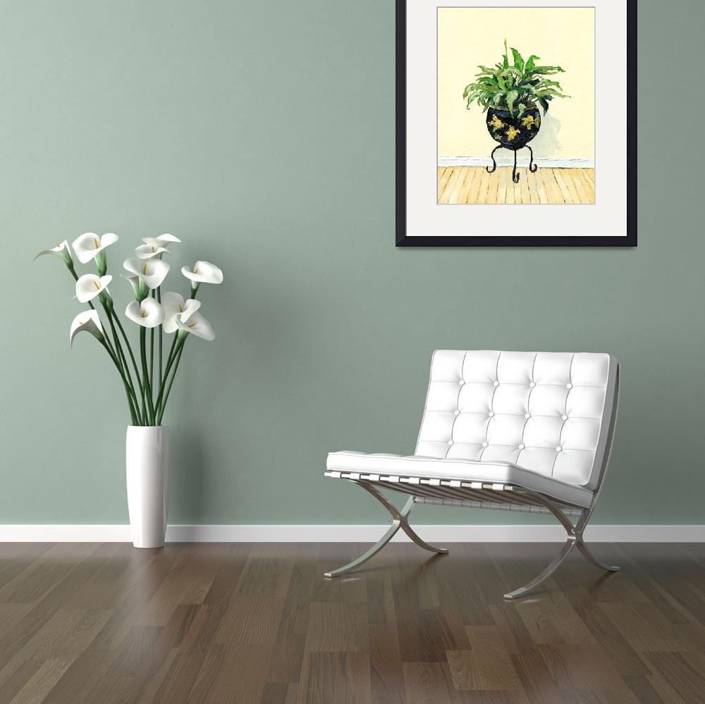 """""""Potted Green Plant Painting""""  (2013) by archpress"""