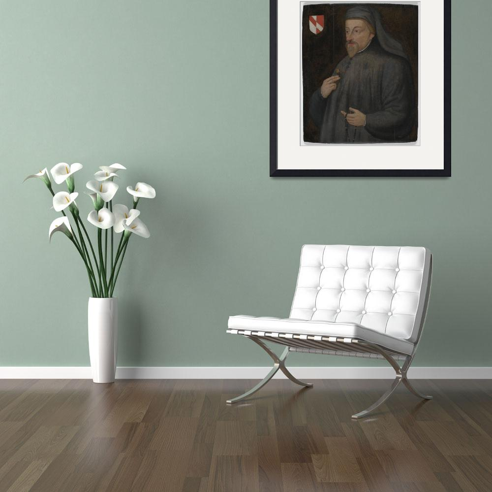 """""""Vintage Geoffrey Chaucer Portrait Painting&quot  by Alleycatshirts"""