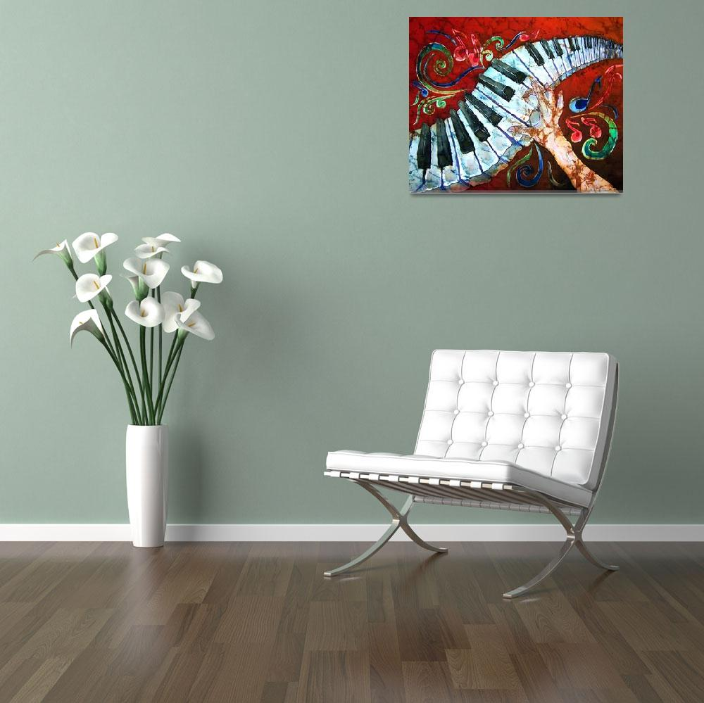 """Music - Crazy Fingers - Piano Keyboard&quot  (2007) by sueduda"