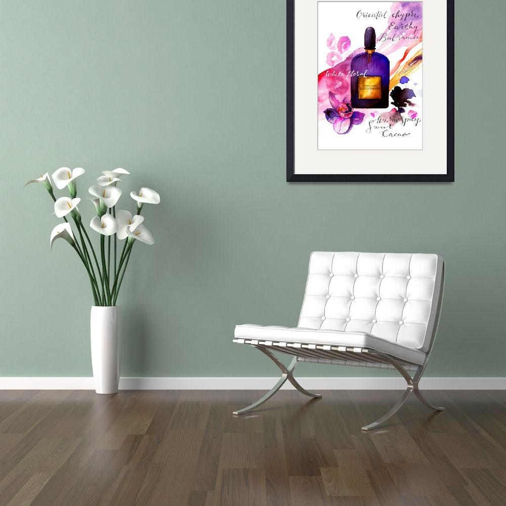"""""""Perfume illustration - Black orchid&quot  (2015) by nevenaart"""