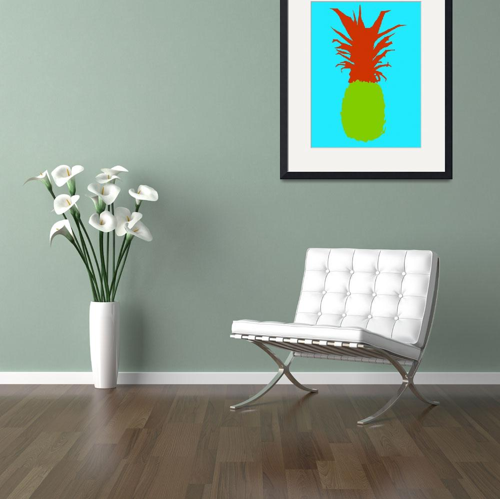 """""""Pineapple green red blue (c)""""  (2014) by edmarion"""