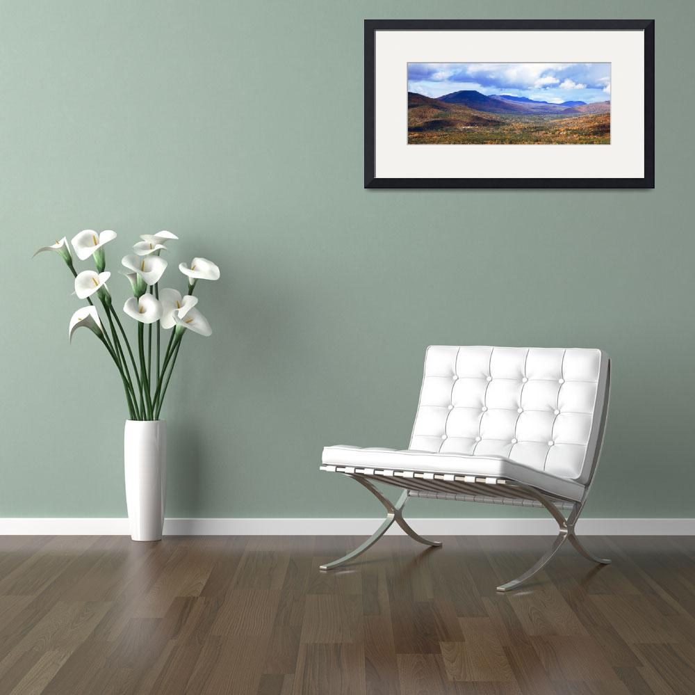 """""""White Mountains panoramic vista, New Hampshire&quot  (2011) by RoupenBaker"""