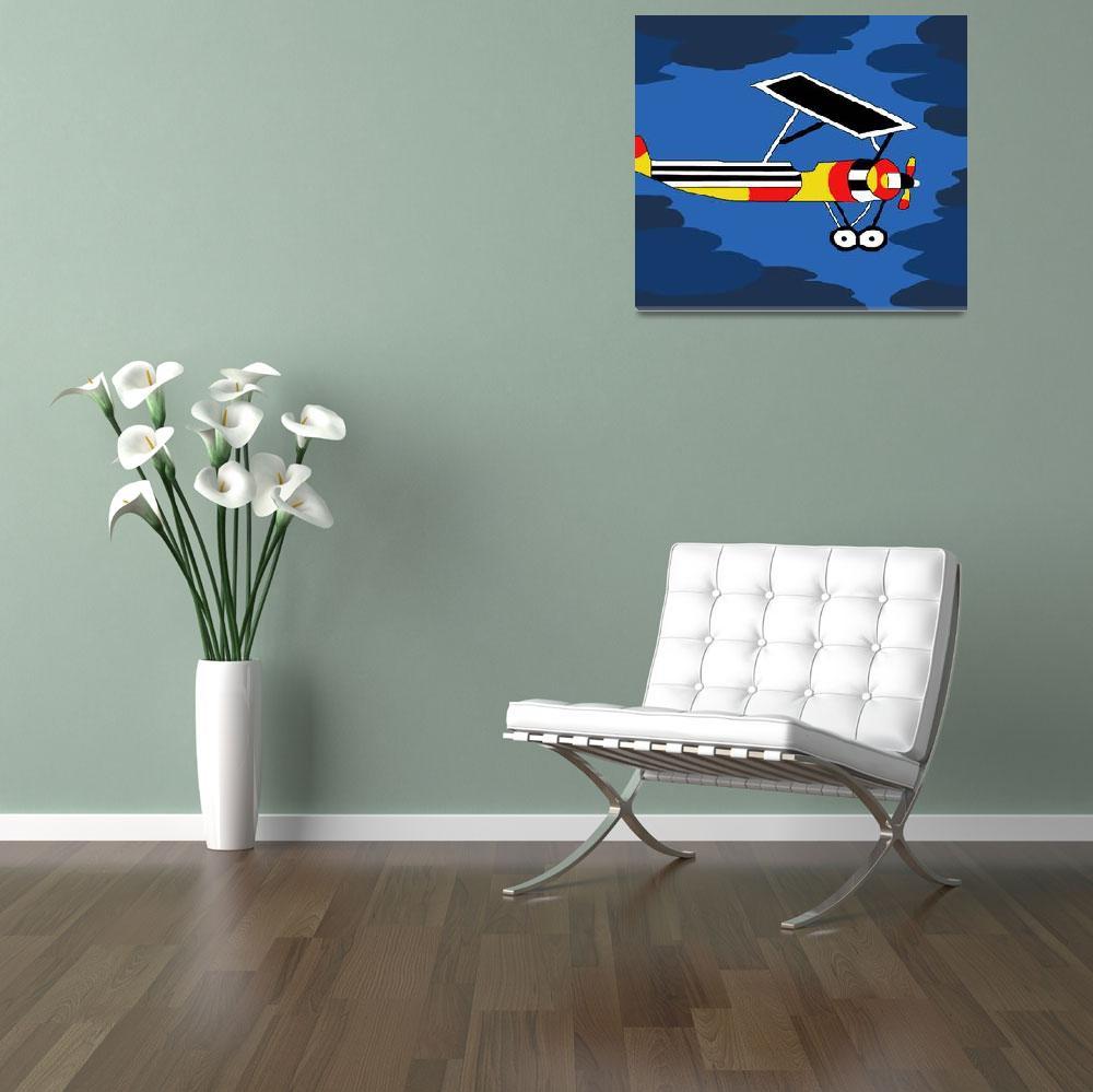 """monoplane aircraft&quot  (2012) by ArtNaive"