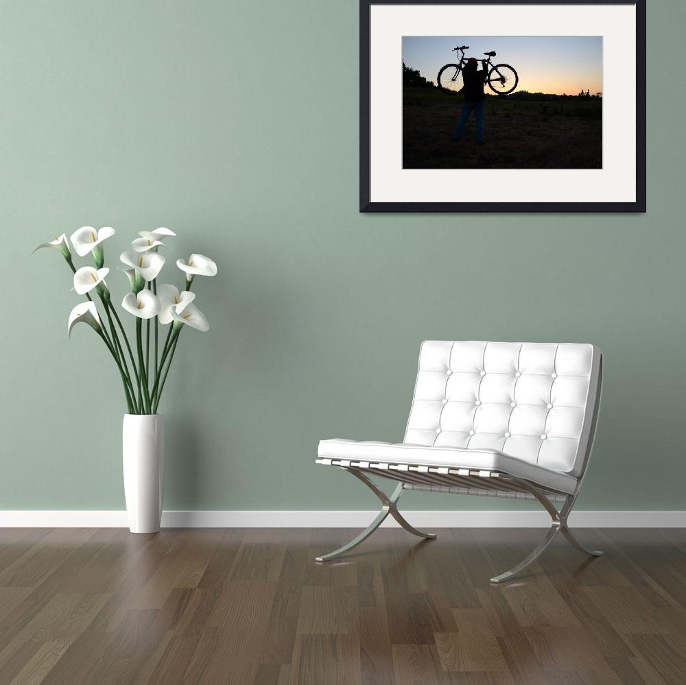 """""""Biking at Sunset""""  (2011) by timothyoleary"""