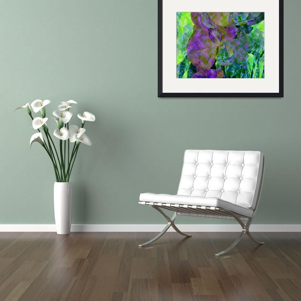 """""""Violet and Green Orchid Trio""""  by LyndaLehmann"""