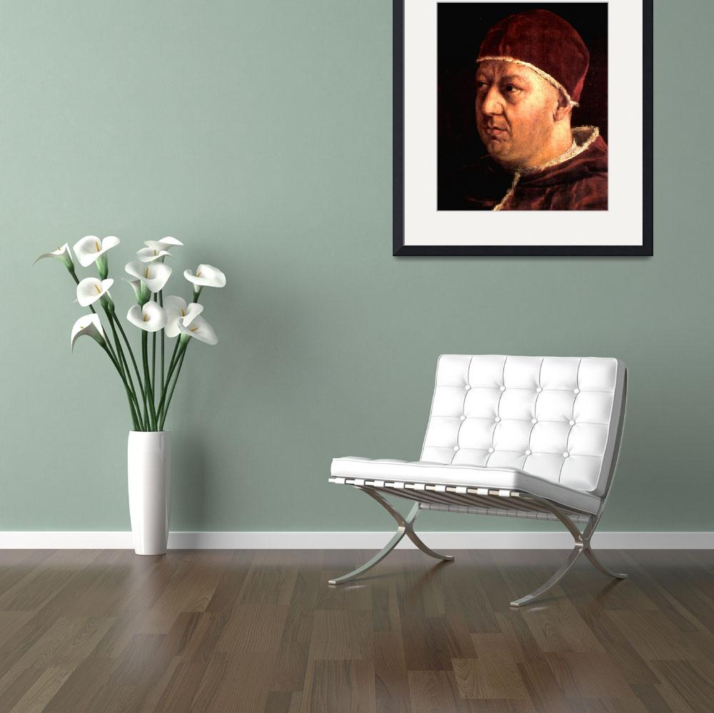 """""""Portrait of the Pope Leo X""""  by ArtLoversOnline"""