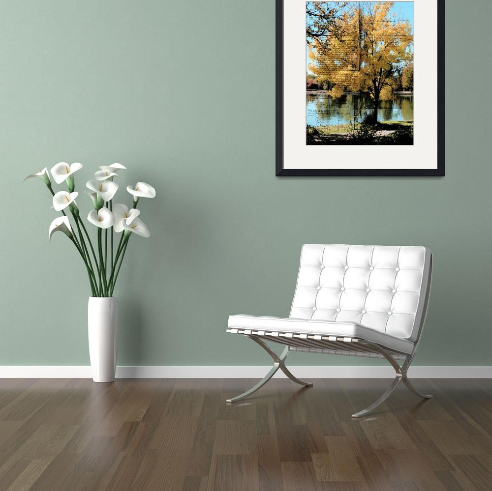 """""""tree and lake old doc2""""  by lizmix"""