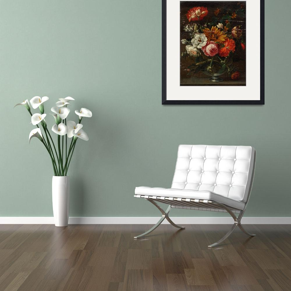 """""""HOLLAND, CIRCA 1700 Flowers in a vase on a stone p""""  by motionage"""