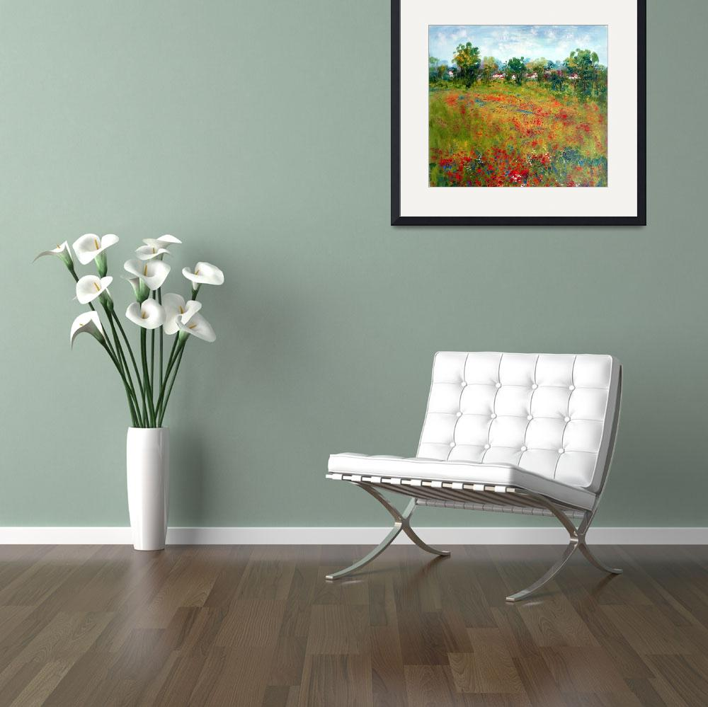"""""""Country Houses among the fllowers&quot  by jeanvadalsmith"""