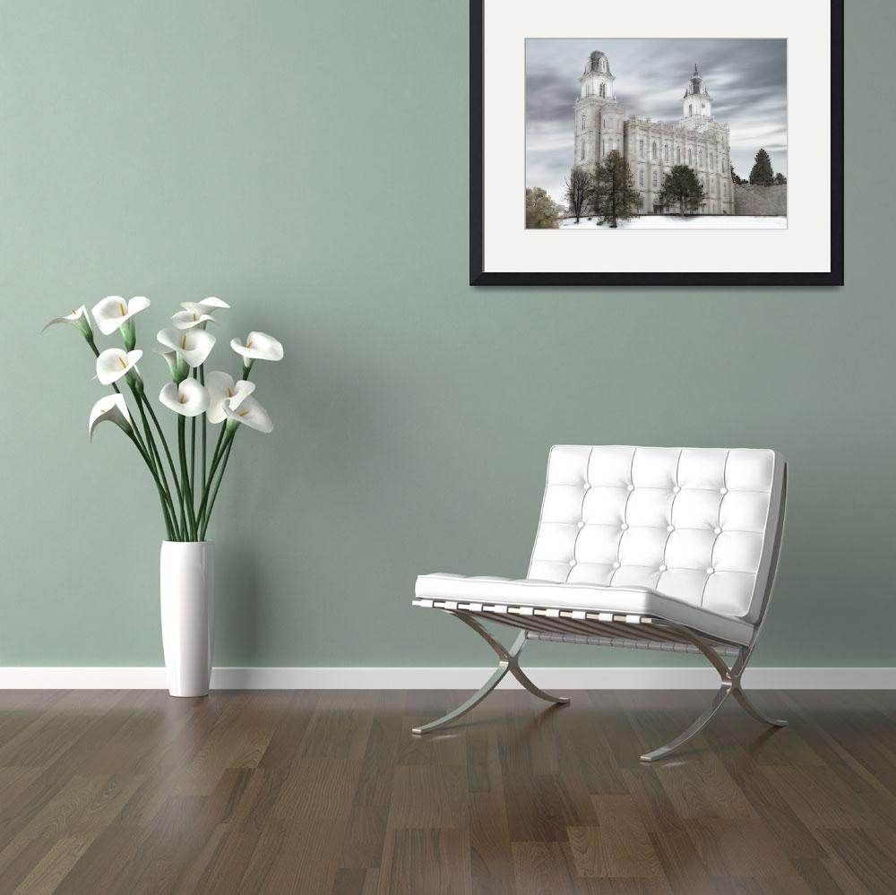"""""""Manti Temple Large-16x22-tinted&quot  by TerrySpringer"""
